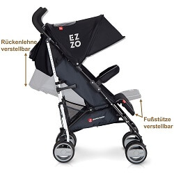 LCP Kids Ezzo Kinderbuggy verstellbar