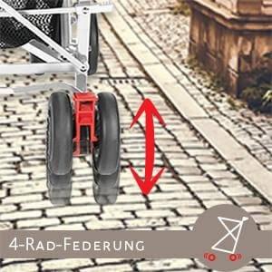 4-Rad-Federung für herausragenden Fahrkomfort